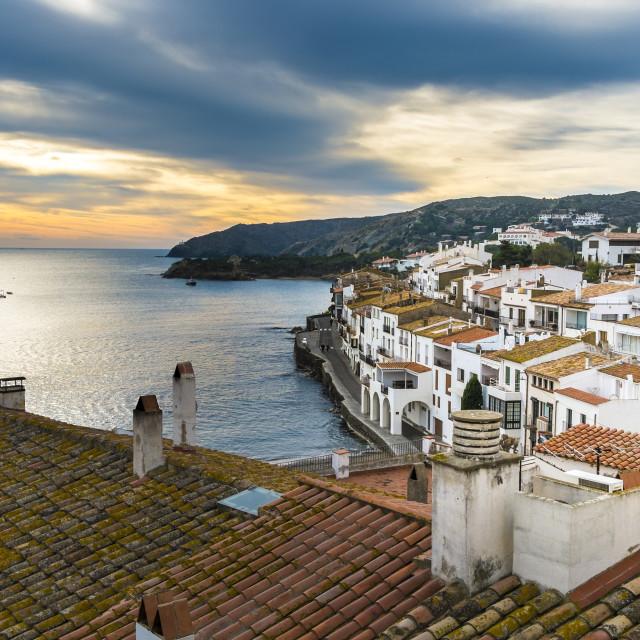 """Mediterranen coast in Catalonia"" stock image"