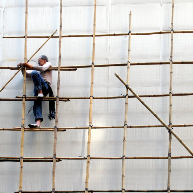 """Bamboo Scaffolding"" stock image"