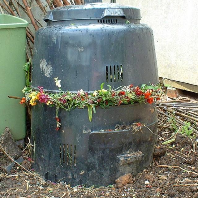 """Compost corner"" stock image"