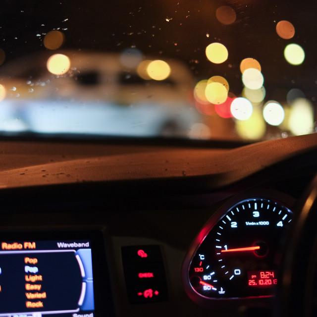 """Night Driving Scene"" stock image"
