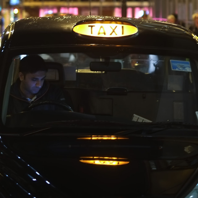 """Night Taxi"" stock image"
