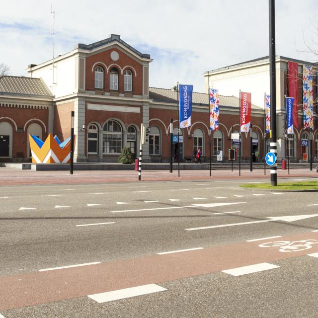 """""""Dordrecht central train station"""" stock image"""