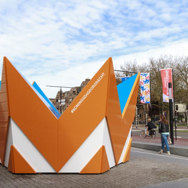 """""""Huge crown in Dordrecht"""" stock image"""