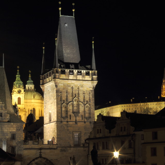 """View from Charles Bridge"" stock image"