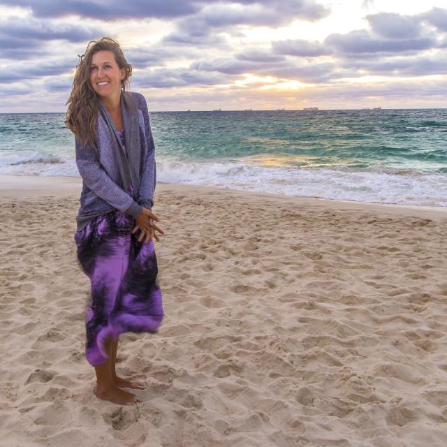 """Cottesloe Beach Sunset"" stock image"