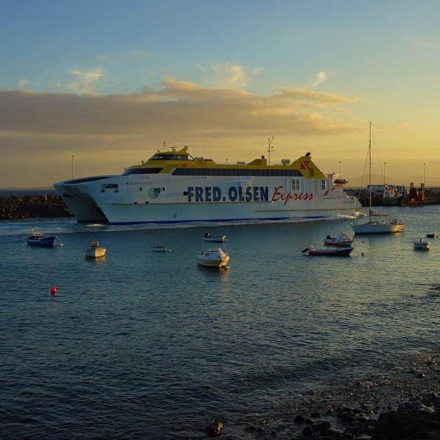 """Island Ferry"" stock image"
