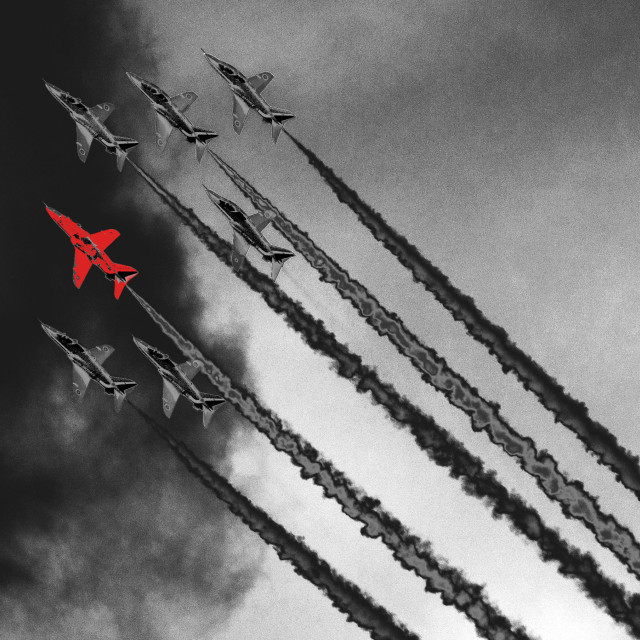 """""""A Red Arrow"""" stock image"""