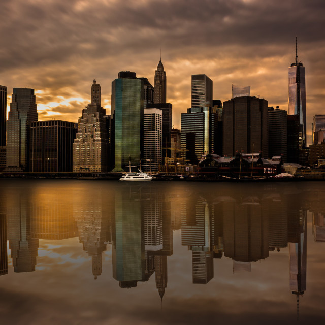 """Manhattan Reflection"" stock image"