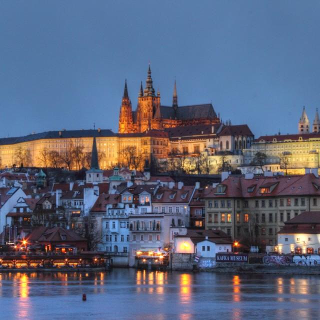"""Prague Castle and Mala Strana"" stock image"