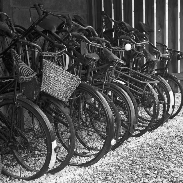 """vintage bike rack"" stock image"