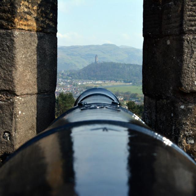 """gun at Stirling Castle"" stock image"