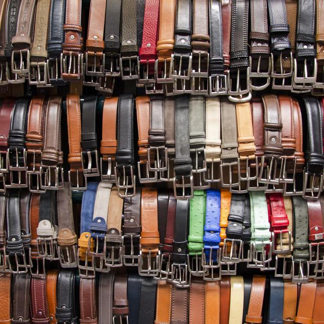 """""""The Belt Seller"""" stock image"""