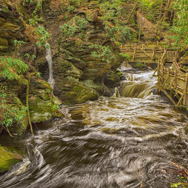 """""""Creek Falls"""" stock image"""