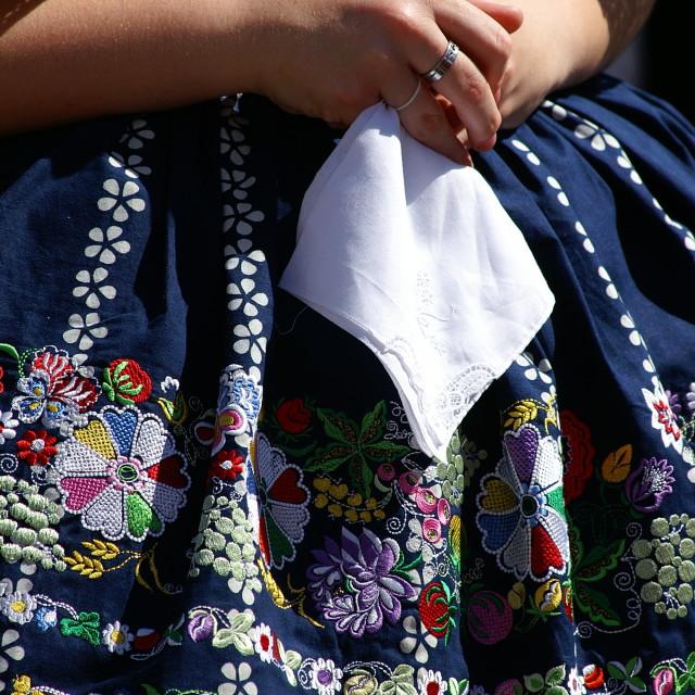 """Female traditonal folk costume"" stock image"