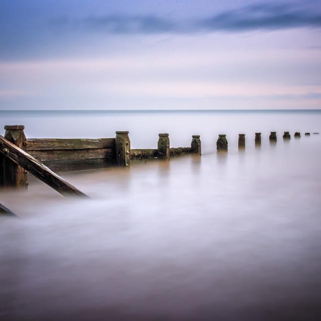 """Calm Breakwater View"" stock image"