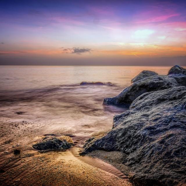 """Coastal Colourful Sunrise"" stock image"