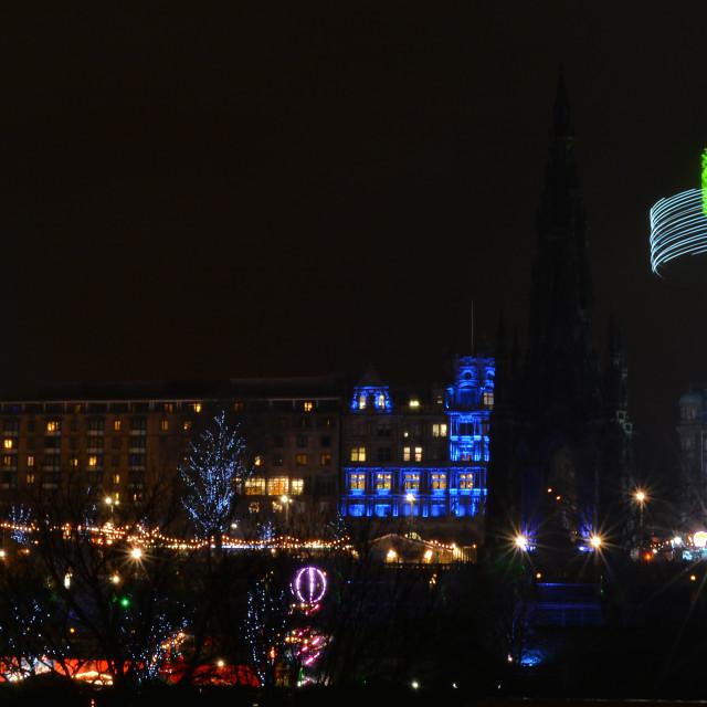 """Edinburgh christmas festival"" stock image"