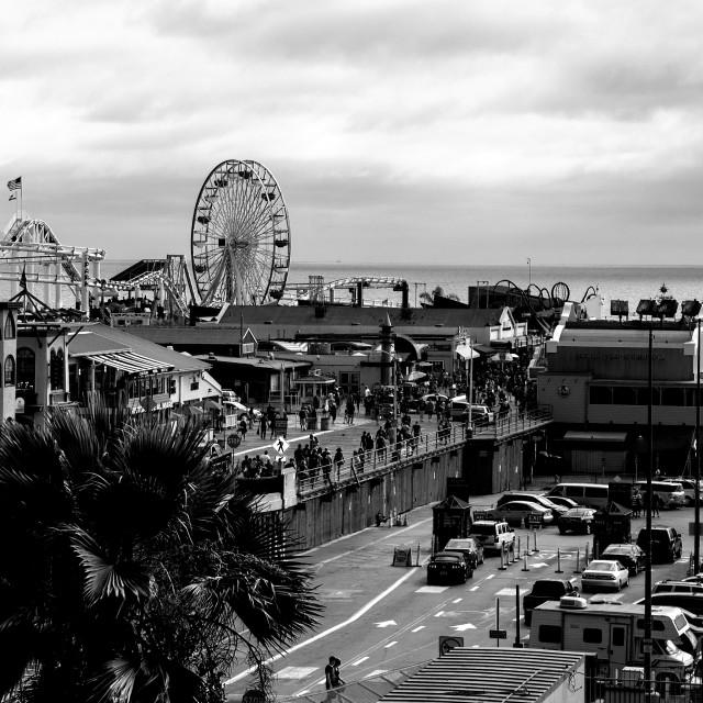 """Santa Monica Pier"" stock image"