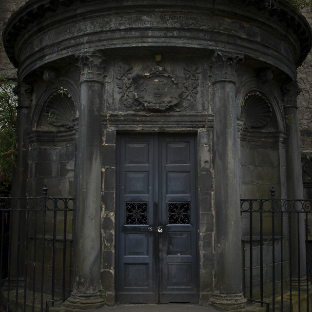 """The Black Mausoleum"" stock image"
