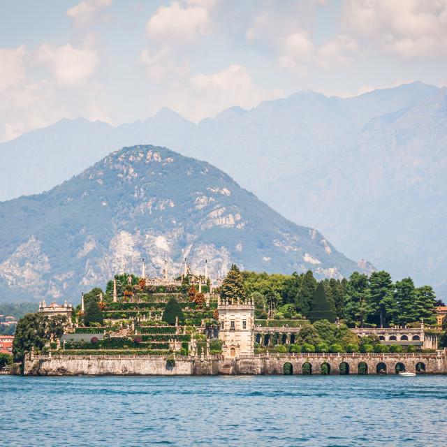 """Isola Bella on Lake Maggiore, Italy"" stock image"