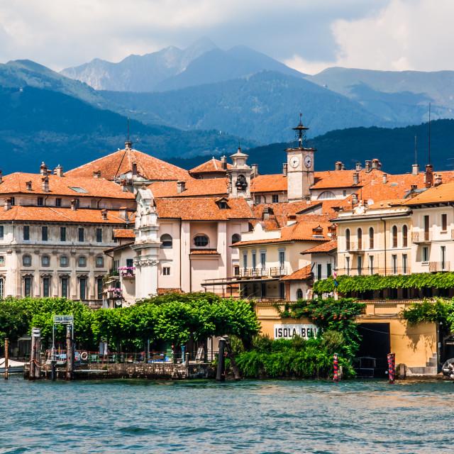 """Isola Bella on Maggiore lake, Italy"" stock image"