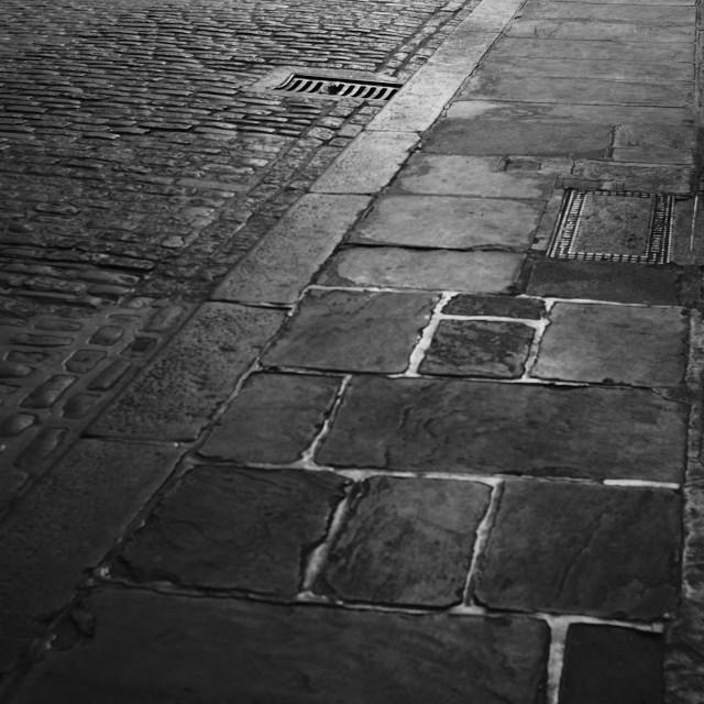 """Cobble Stone Road, London"" stock image"