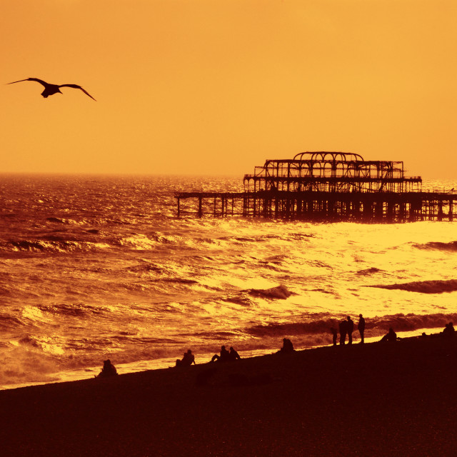 """The West Pier, Brighton, England."" stock image"