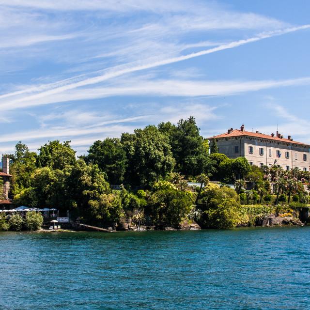 """""""Isola Madre, Lago Maggiore, Italy"""" stock image"""