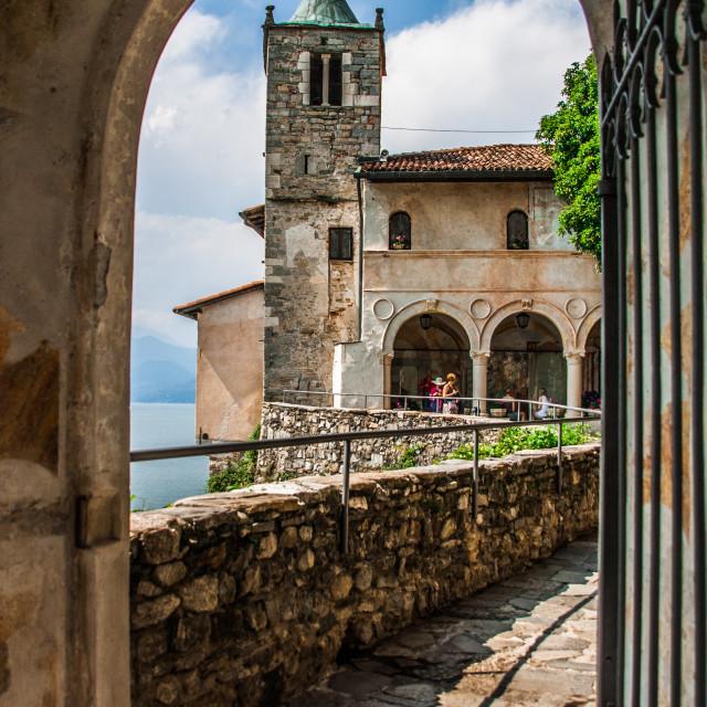 """Santa Caterina, Leggiurno, Italy"" stock image"