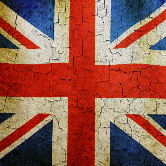 """Grunge Union flag"" stock image"