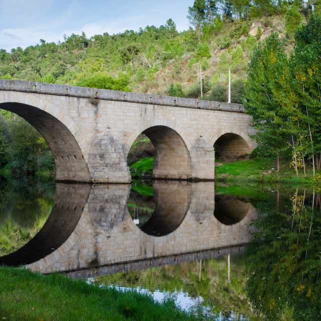 """Ancient Roman Bridge."" stock image"