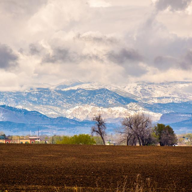 """Colorado Front Range"" stock image"