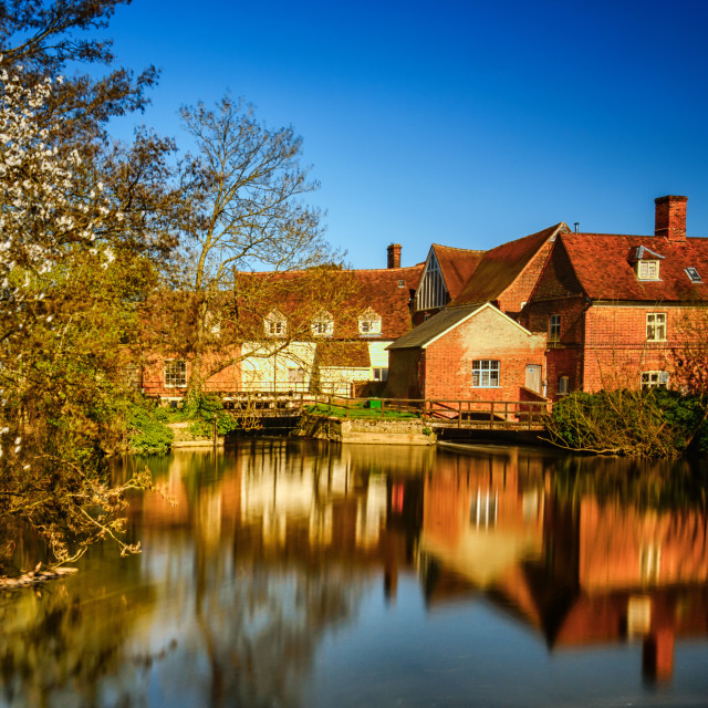 """Beautiful Day at Flatford Mill (Artist John Constables Favourite Location)"" stock image"