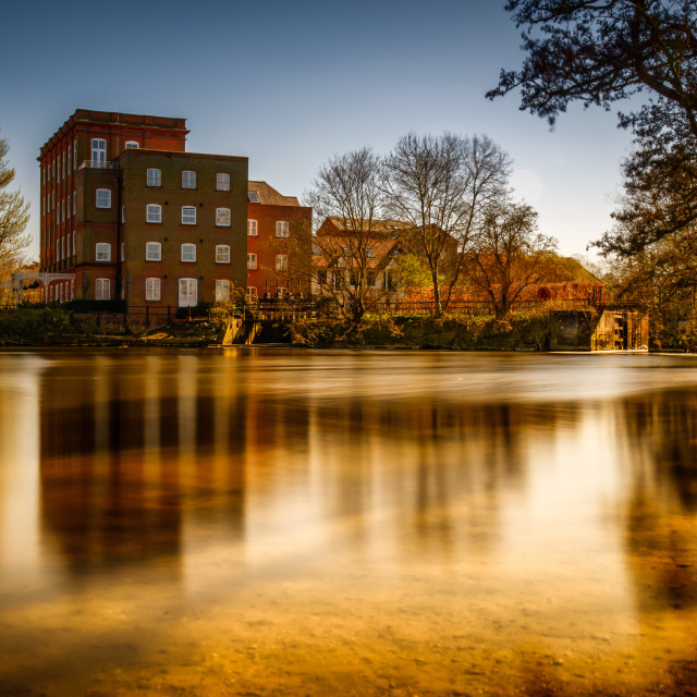 """Dedham Mill (Artist John Constable Area)"" stock image"