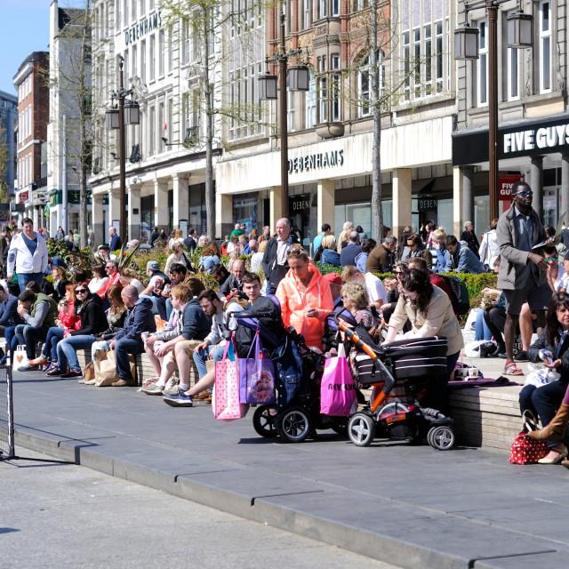 """Nottingham's Old Market Square ."" stock image"