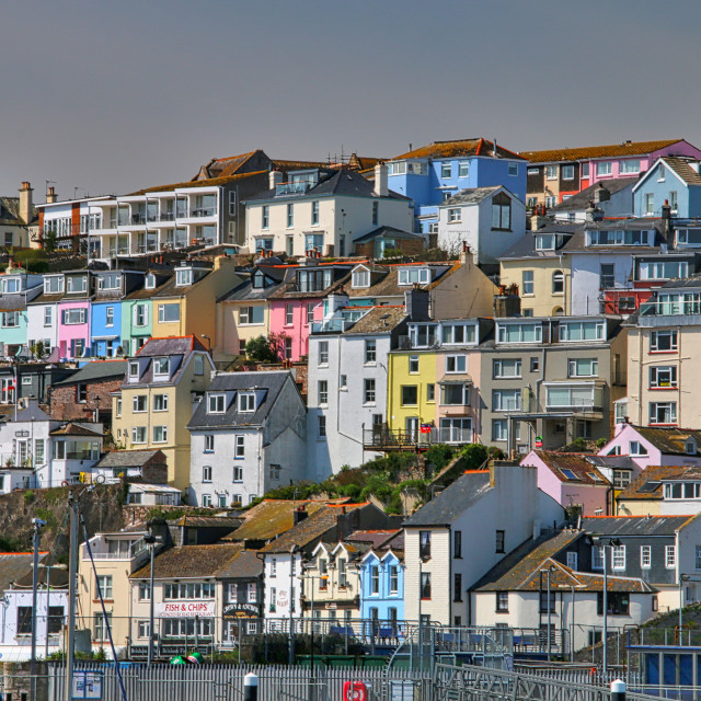"""""""Colourful Houses"""" stock image"""