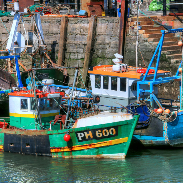 """Small fishing boats"" stock image"