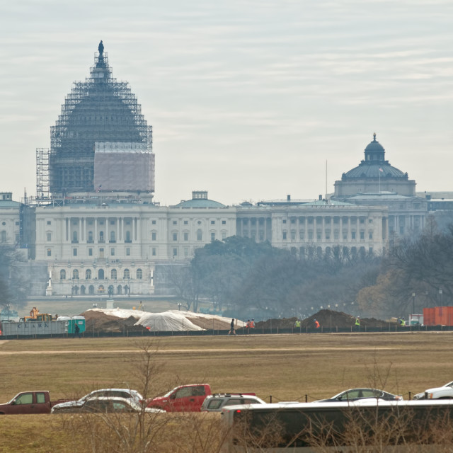 """US Capitol and library of Congress in background"" stock image"