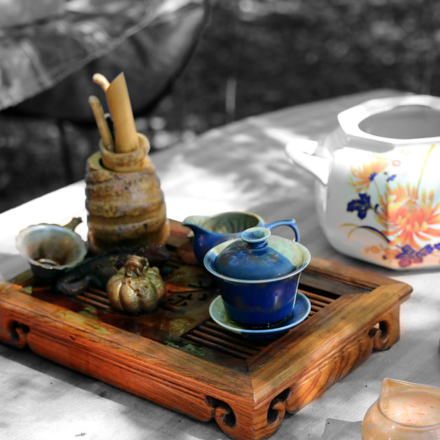 """Teapots for tea ceremony"" stock image"