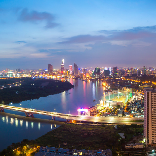 """Ho Chi Minh City - Saigon Panorama"" stock image"
