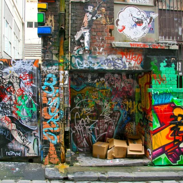 """""""Melbourne Graffiti"""" stock image"""