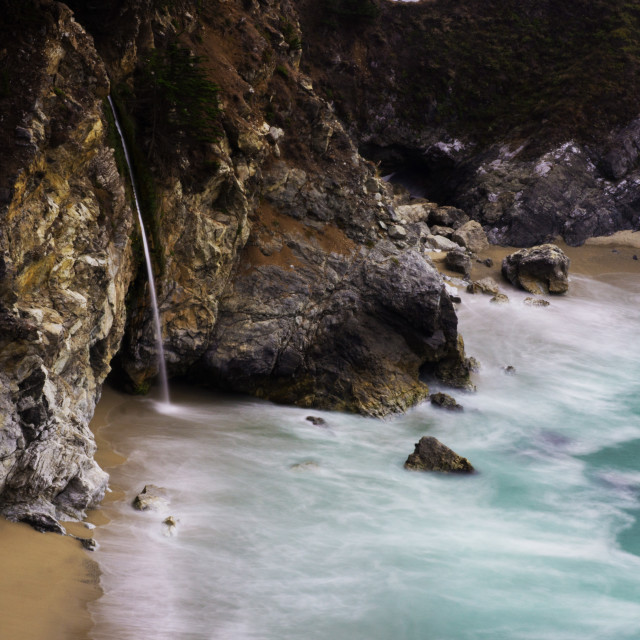 """""""McWay Cove Waterfall"""" stock image"""