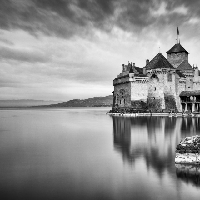 """Castle at the lake"" stock image"