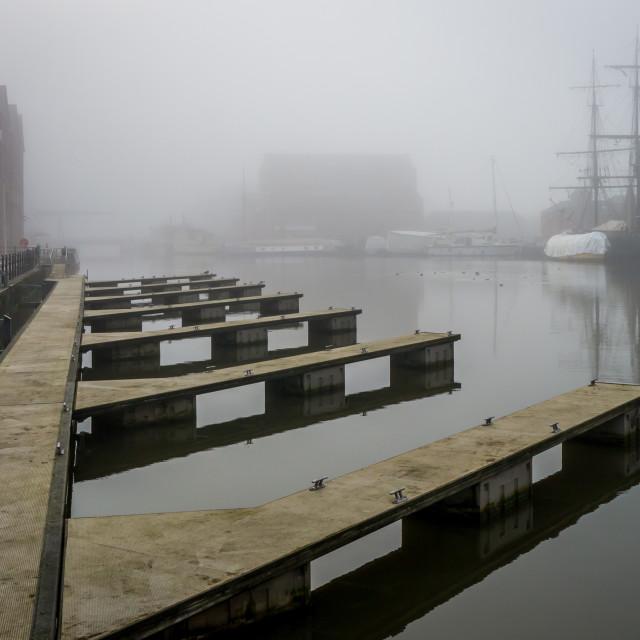 """""""Gloucester Docks (Deserted)"""" stock image"""