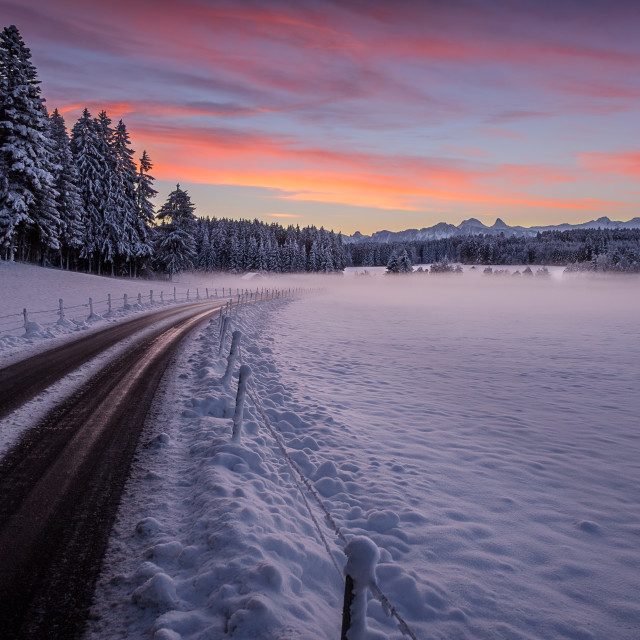 """""""Road to the Cold"""" stock image"""