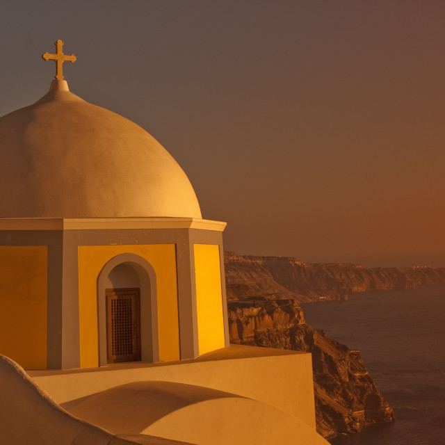 """Sunset in Santorini"" stock image"