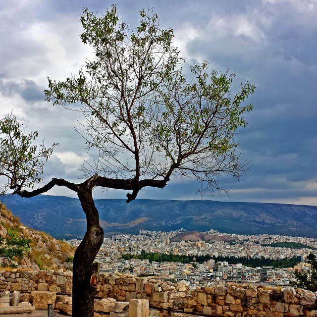 """View from the Acropolis"" stock image"