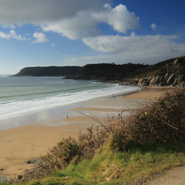"""Caswell Bay"" stock image"
