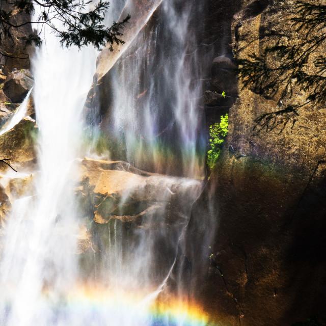 """Lower Yosemite Falls"" stock image"
