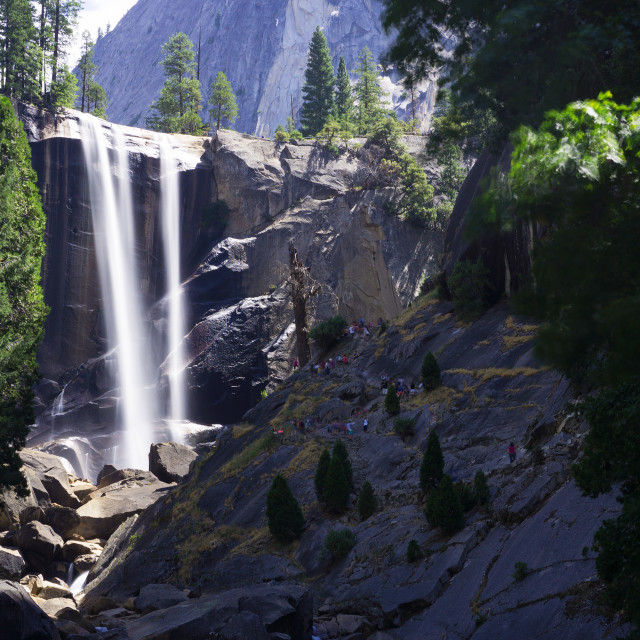 """Lower Yosemite Falls"" stock image"